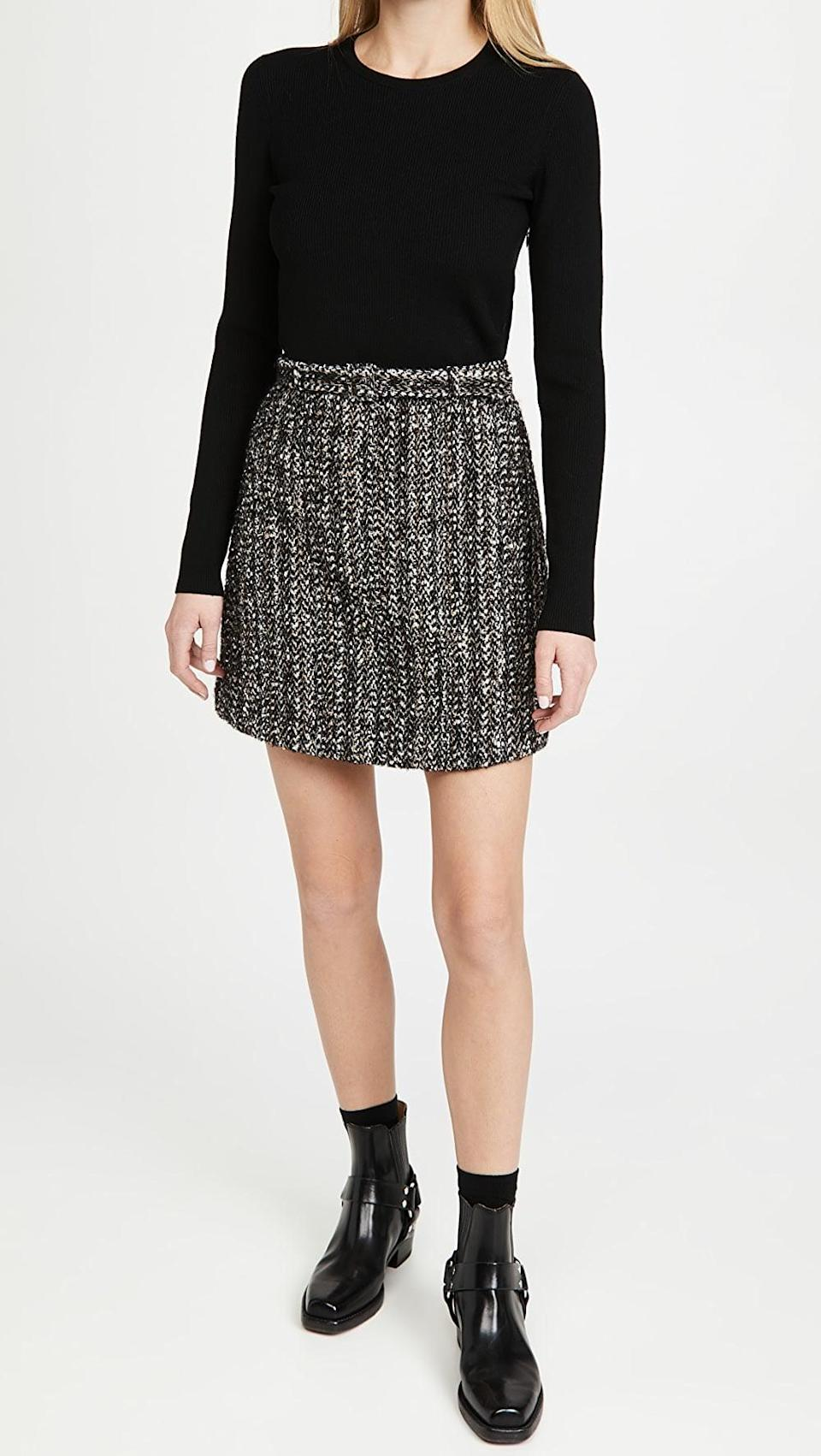 <p>This <span>Theory Long Sleeve Knit Combo Dress</span> ($333, originally $475) is a cute dress that will make you feel that much more put together.</p>