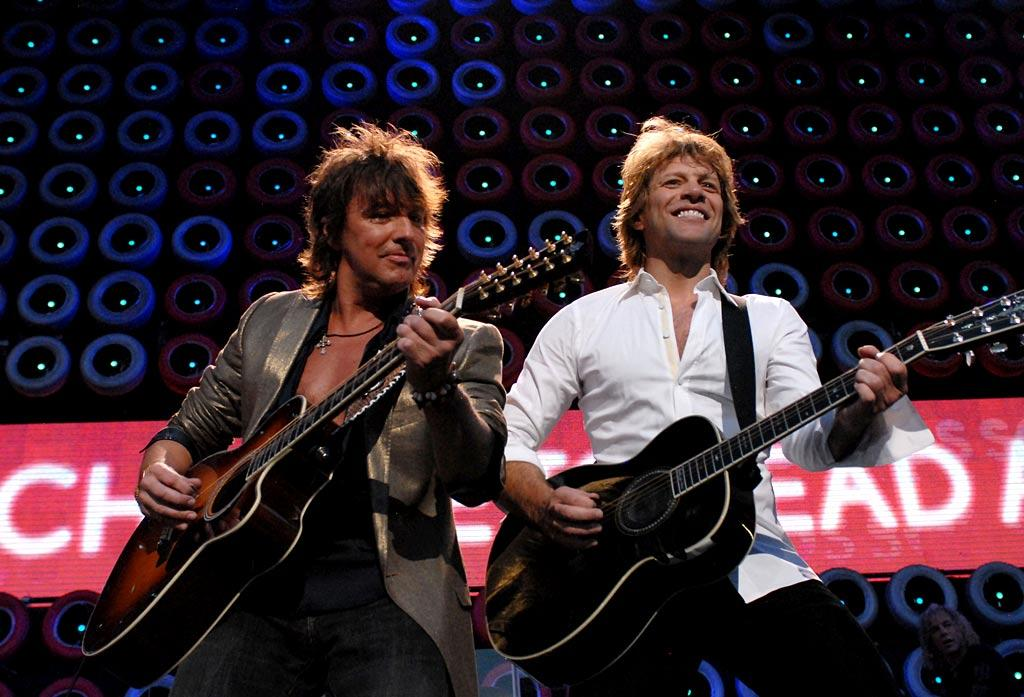 "Richie Sambora manages to make an appearance at Live Earth with Bon Jovi despite his recent rehab stint. Kevin Mazur/<a href=""http://www.wireimage.com"" target=""new"">WireImage.com</a> - July 7, 2007"