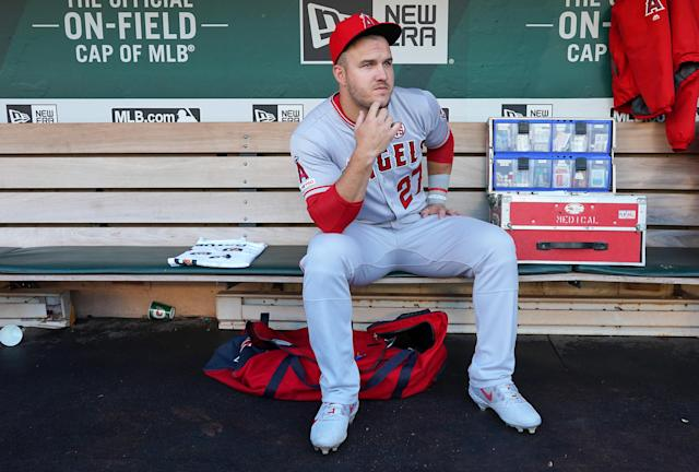 The odds are against Mike Trout delivering another dominant fantasy season. (Photo by Thearon W. Henderson/Getty Images)
