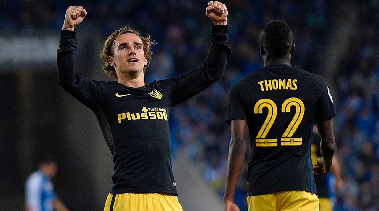 BARCELONA, Spain (AP) Antoine Griezmann kept Atletico Madrid focused on a strong finish to the Spanish league on Saturday despite its looming Champions League semifinal with Real Madrid.