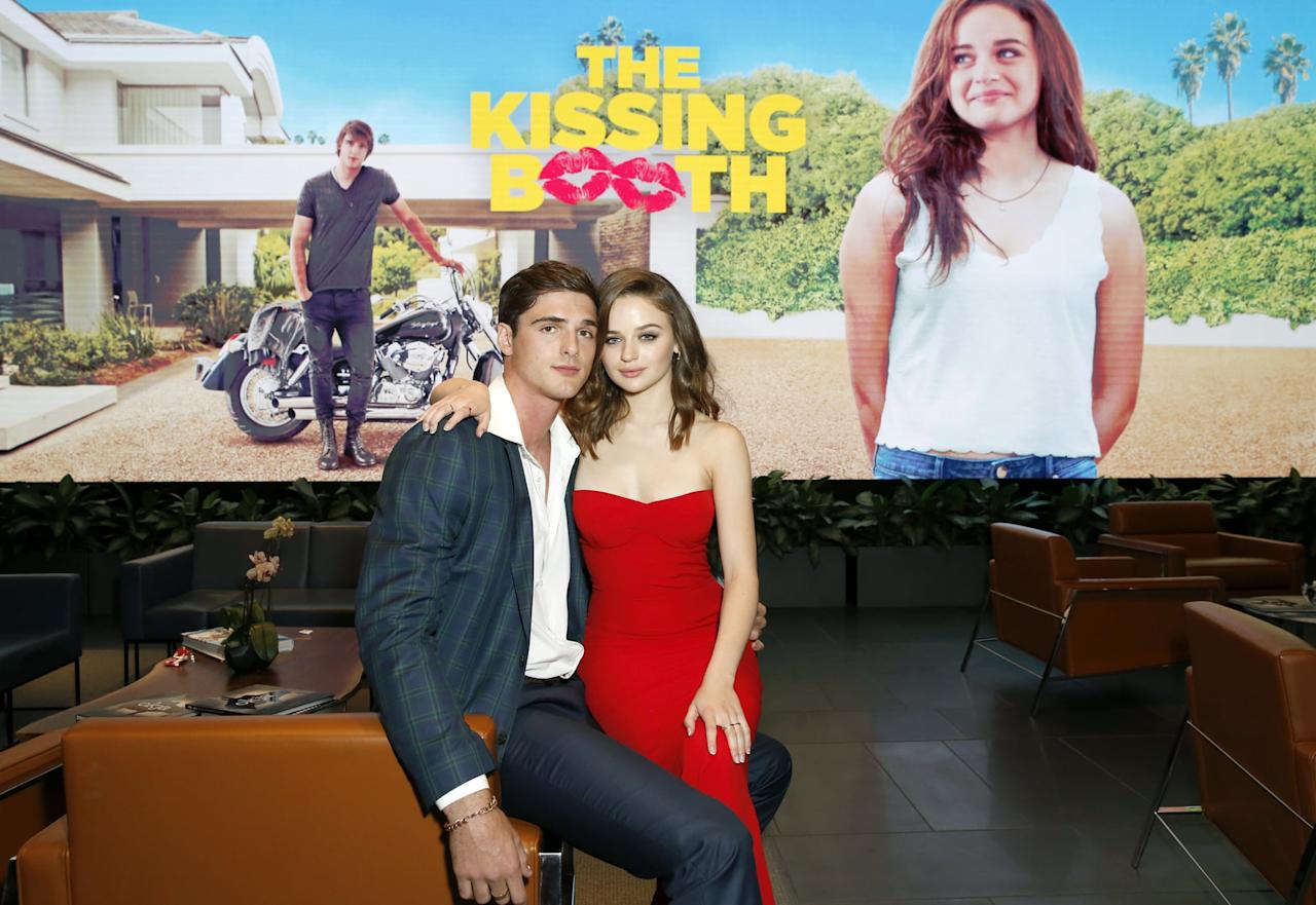 """<p>The costars of Netflix's rom-com <strong>The Kissing Booth</strong> reportedly <a href=""""https://www.popsugar.com/celebrity/Joey-King-Jacob-Elordi-Relationship-Details-44915744"""" class=""""ga-track"""" data-ga-category=""""Related"""" data-ga-label=""""http://www.popsugar.com/celebrity/Joey-King-Jacob-Elordi-Relationship-Details-44915744"""" data-ga-action=""""In-Line Links"""">took their onscreen romance into real life</a> back in 2017. It wasn't quite love at first sight, but there was definitely a vibe there from day one, as Joey told <strong>Bello</strong> magazine.</p> <p>""""<a href=""""http://www.justjared.com/2018/05/04/joey-king-reveals-if-it-was-love-at-first-sight-with-jacob-elordi/"""" target=""""_blank"""" class=""""ga-track"""" data-ga-category=""""Related"""" data-ga-label=""""http://www.justjared.com/2018/05/04/joey-king-reveals-if-it-was-love-at-first-sight-with-jacob-elordi/"""" data-ga-action=""""In-Line Links"""">Was it love at first sight</a>? Well, I thought he was very cute when we first met, but it started as a friendship,"""" she told <strong>Bello</strong>, via <strong>JustJared</strong>. """"Right away we were talking about gross things with each other. But before long I started to realize, 'Hey, I think I kind of like this person!' It was such an interesting experience meeting your boyfriend on set because you spend so much time together and become so close so fast.""""</p> <p>Jacob and Joey dated for a couple of years, but by early 2019, it had become apparent that <a href=""""https://www.popsugar.com/celebrity/Did-Joey-King-Jacob-Elordi-Break-Up-46012256"""" class=""""ga-track"""" data-ga-category=""""Related"""" data-ga-label=""""https://www.popsugar.com/celebrity/Did-Joey-King-Jacob-Elordi-Break-Up-46012256"""" data-ga-action=""""In-Line Links"""">they weren't seeing each other anymore</a>. In an interview with <strong>Refinery29</strong>, she admitted that the intense attention from fans trying to """"figure out"""" if she and Jacob had broken up <a href=""""http://www.refinery29.com/en-us/2019/03/226279/joey-king-the-act-interview"""" target="""""""