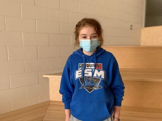 Grade 11 student Emilie Benoit has been at the school since kindergarten and has seen many of her classmates leave to go to English schools with more course offerings.