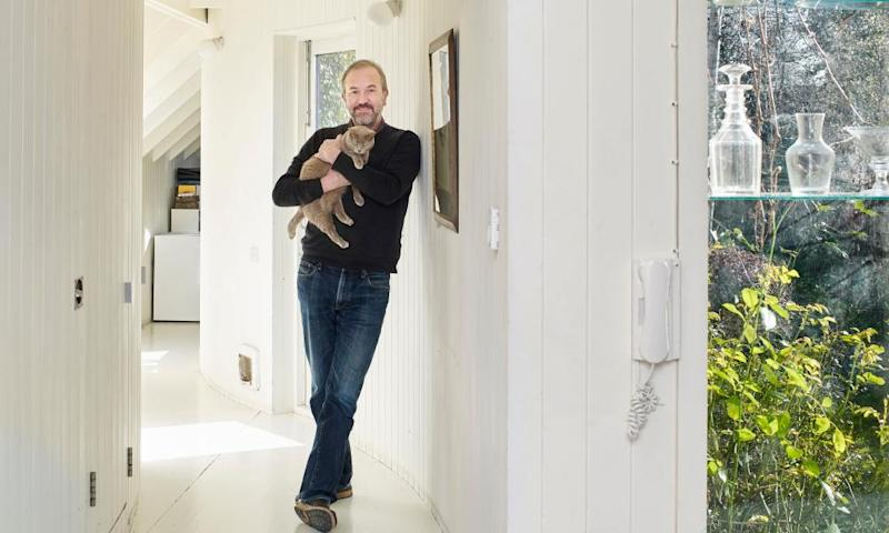 Rowan Moore at home in east London, in the extension he designed for his late wife.