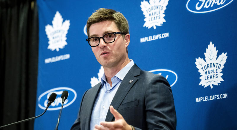 Kyle Dubas and the Leafs have no more room for mistakes. (CANADIAN PRESS/Christopher Katsarov)