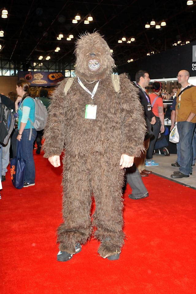 A Comic Con attendee wearing a Star Wars costume poses during the 2012 New York Comic Con at the Javits Center on October 11, 2012 in New York City.  (Photo by Daniel Zuchnik/Getty Images)