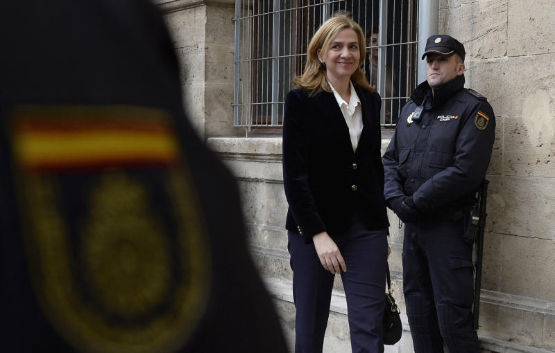Spanish court acquits king's sister, Princess Cristina, of tax fraud