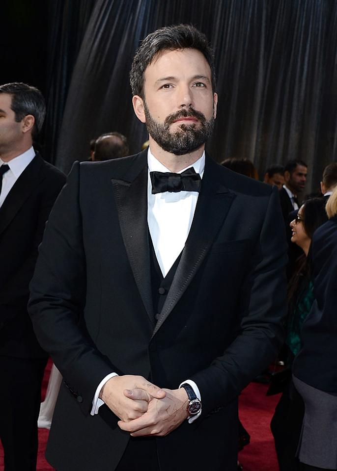 Ben Affleck arrives at the Oscars in Hollywood, California, on February 24, 2013.