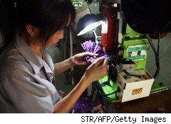 worker at a Chinese factory