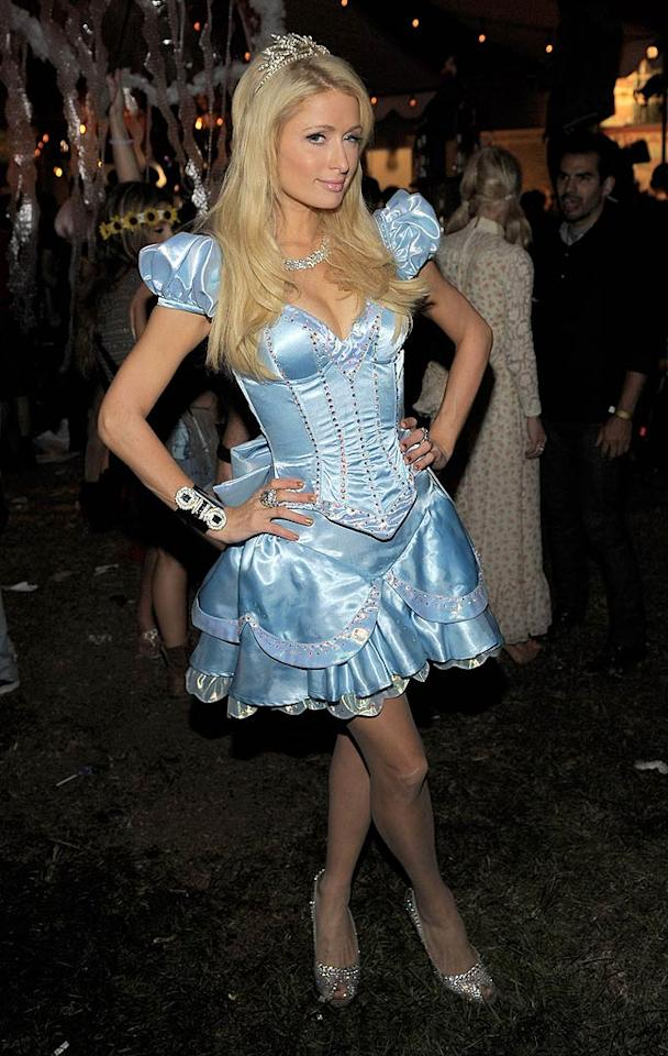 Paris Hilton played the princess at Bacardi and Maroon 5's Annual Halloween Bash held at Hollywood Forever Cemetery in L.A. Monday night. (October 31, 2011)