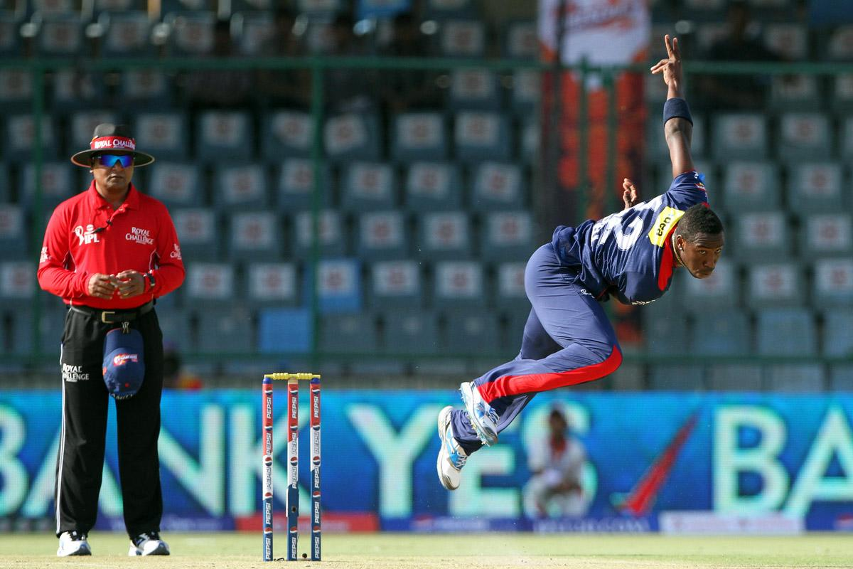 Delhi Daredevils player Andre Russell during match 4 of the Pepsi Indian Premier League between Delhi Daredevils and the Rajasthan Royals held at the Feroz Shah Kotla Stadium, Delhi on the 6th April 2013..Photo by Deepak Malik-IPL-SPORTZPICS ..Use of this image is subject to the terms and conditions as outlined by the BCCI. These terms can be found by following this link:..https://ec.yimg.com/ec?url=http%3a%2f%2fwww.sportzpics.co.za%2fimage%2fI0000SoRagM2cIEc&t=1495599658&sig=8GePzVjfkIYjIlSkM3fP3Q--~C