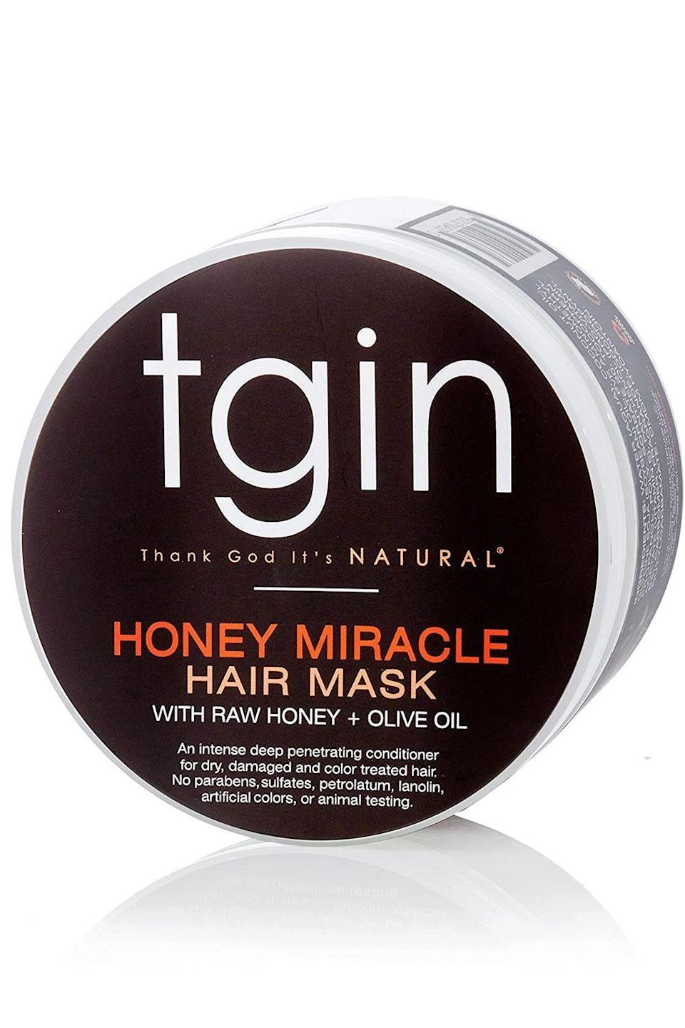 """<p><strong>Thank God It's Natural</strong></p><p>ulta.com</p><p><strong>$17.99</strong></p><p><a href=""""https://go.redirectingat.com?id=74968X1596630&url=https%3A%2F%2Fwww.ulta.com%2Fhoney-miracle-hair-mask-deep-conditioner%3FproductId%3Dpimprod2005394&sref=https%3A%2F%2Fwww.cosmopolitan.com%2Fstyle-beauty%2Fbeauty%2Fg34358051%2Fblack-owned-hair-products%2F"""" rel=""""nofollow noopener"""" target=""""_blank"""" data-ylk=""""slk:Shop Now"""" class=""""link rapid-noclick-resp"""">Shop Now</a></p><p>When it glides onto your hair and seeps deep into the cuticle, this Black-owned hair product is able to transform dull and parched hair. The formula is made up of a concoction of natural ingredients: raw honey, jojoba oil, and olive oil. And when they come together in this <a href=""""https://www.cosmopolitan.com/style-beauty/beauty/g28313157/best-deep-conditioner/"""" rel=""""nofollow noopener"""" target=""""_blank"""" data-ylk=""""slk:deep conditioner"""" class=""""link rapid-noclick-resp"""">deep conditioner</a>, <strong>you're left with hair that's shinier, bouncier, and healthier.</strong></p>"""