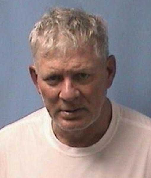 This image provided by the Linden (N.J.) Police Department shows Lenny Dykstra. Police say former Major League Baseball star Lenny Dykstra put a gun to his New Jersey Uber drivers head when the driver declined to change the trips destination. Linden police say Dykstra was arrested early Wednesday, May 23, 2018 outside police headquarters after the driver stopped and ran out of the car. (Linden (N.J.) Police Department via AP)