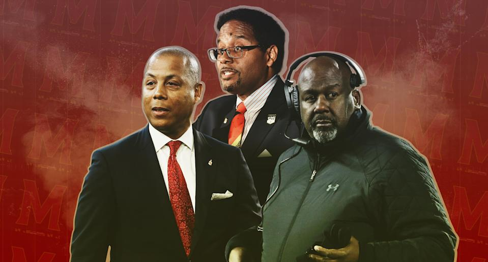 Maryland is first and only FBS school with an African American president, athletic director and head football coach.