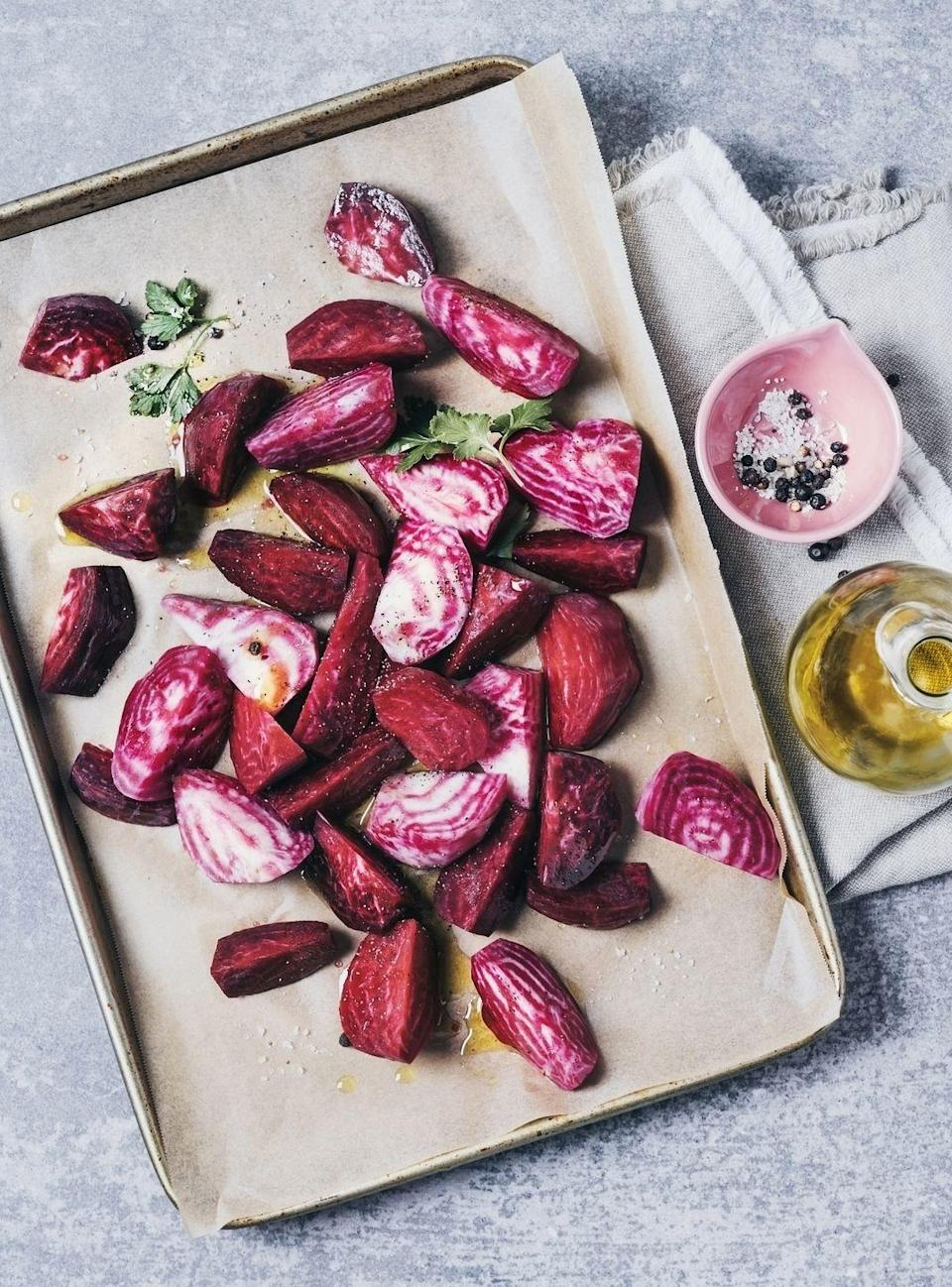 """<p>If you're planning on roasting veggies, know that this often takes some time. Roasting can take about a half hour, if not longer. One way to speed up the process just a bit is to pre-warm the sheet pants. """"To speed up that process, I pop a sheet pan in the oven to preheat until rocking hot, then hit the hot pan with the seasoned veggies. This helps to both decrease the cook time and guarantees those texture-happy, crispy veggie edges,"""" advises Prescott. </p>"""