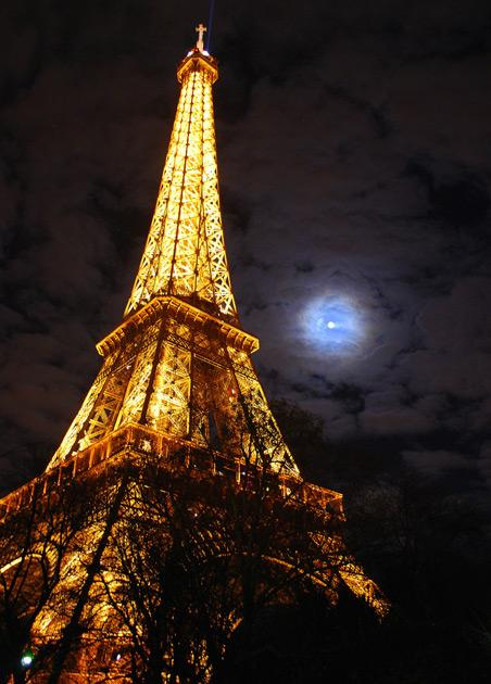 "<p><strong>Eiffel by moonlight:</strong> It is named after the engineer Gustave Eiffel, whose company designed and built the tower. Eiffel had a permit for the tower to stand for 20 years; it was to be dismantled in 1909 but it proved crucial for war time communication. Photo by <a href=""http://www.flickr.com/photos/saparajit/"">Saparjit</a>.</p>"
