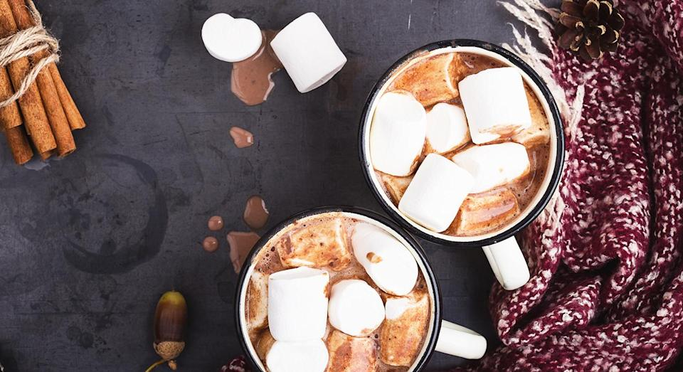 Red wine hot chocolate is the stuff of cold weather dreams. [Photo: Getty]