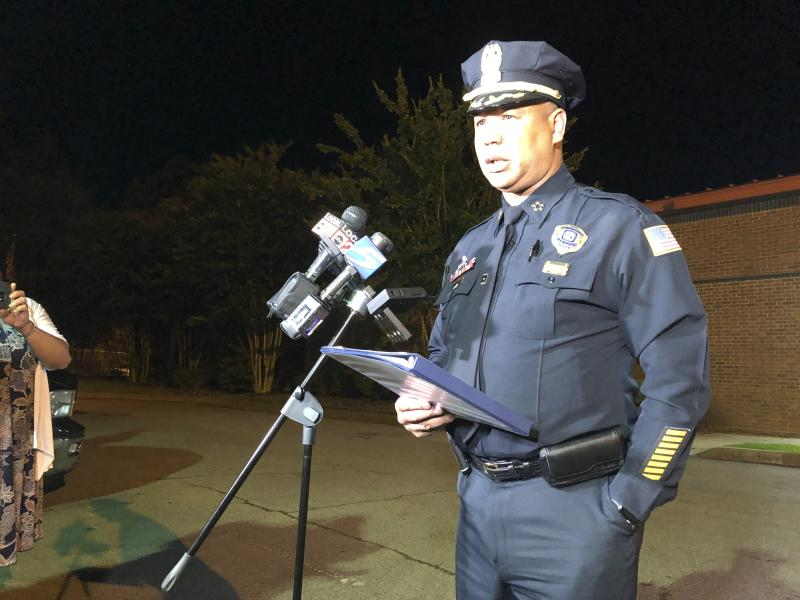 Memphis Police Director Michael Rallings speaks to reporters after a late Wednesday clash with police and an angry crowd early Thursday, June 13, 2019, in Memphis, Tennessee. Armed officers and an angry crowd faced off late Wednesday night after reports that at least one man was fatally shot by authorities in a working-class north Memphis neighborhood. (Photo: Adrian Sainz/AP)