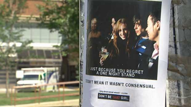 """Posters went up in Edmonton that mimic the well-known """"Don't be that guy"""" anti-sexual assault campaign."""