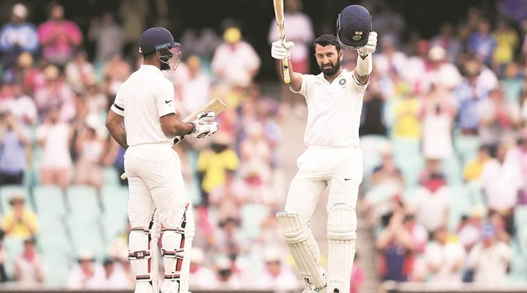 india vs australia 2018, ind vs aus 2018, india vs australia 4th test, ind vs aus 4th test, cheteshwar pujara, pujara runs, cheteshwar pujara hundred, Virat Kohli, cricket news, indian express