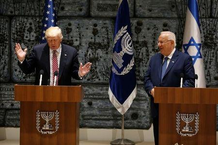 Trump arrives for talks with Palestinian leader in Bethlehem
