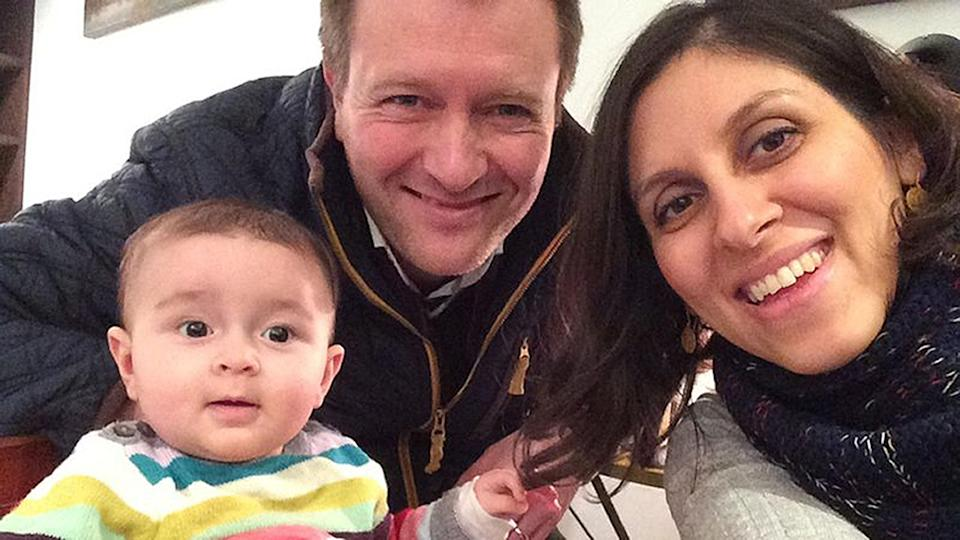Nazanin Zaghari-Ratcliffe with her husband Richard Ratcliffe and their daughter Gabriella (Picture: PA)