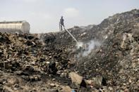 Pickers sometimes set illegal fires to flush out valuables