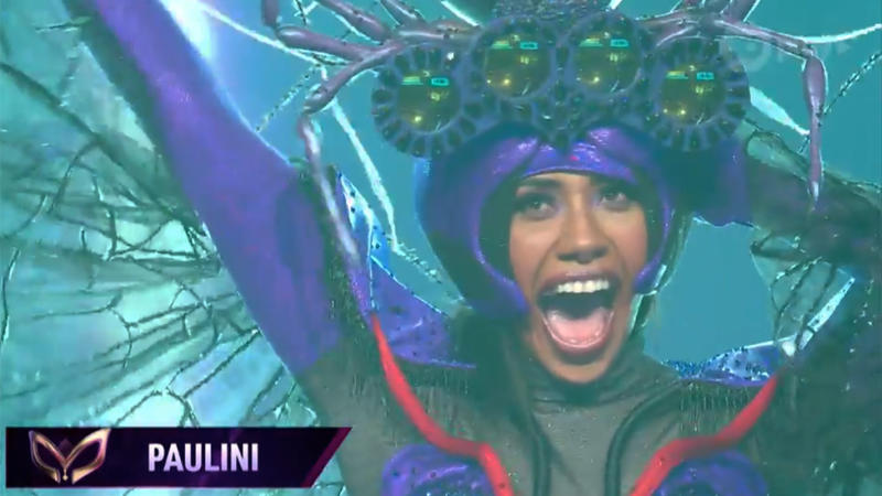 Paulini was revealed as the Spider, which Lindsay of course guessed correctly. Photo: Ten