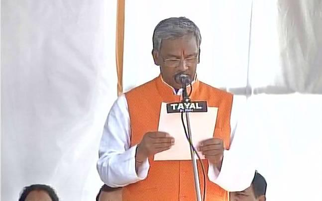 Trivendra Singh Rawat is new Uttarakhand CM, PM Narendra Modi attends swearing-in ceremony