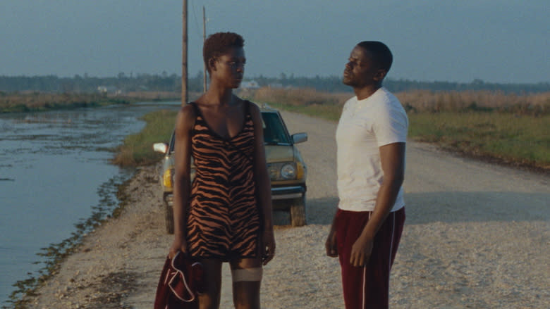 Jodie Turner-Smith and Daniel Kaluuya in 'Queen & Slim'. (Credit: eOne)