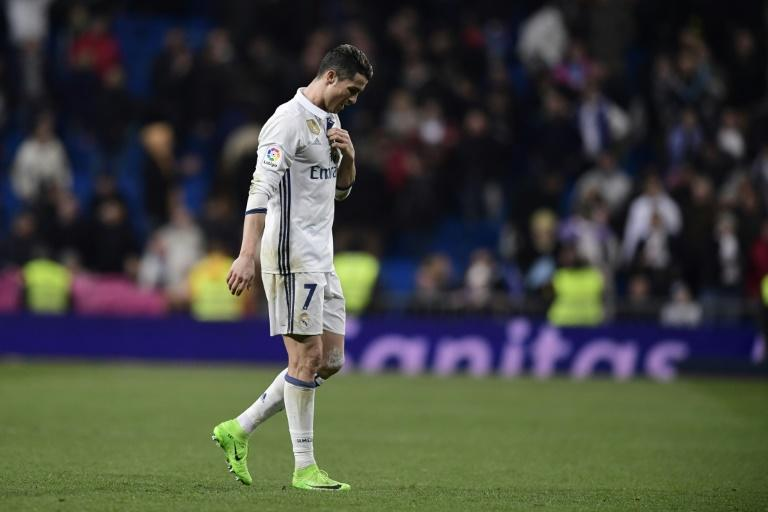 Real Madrid's Cristiano Ronaldo leaves the pitch at the end of their La Liga match against Las Palmas, at the Santiago Bernabeu stadium in Madrid, on March 1, 2017