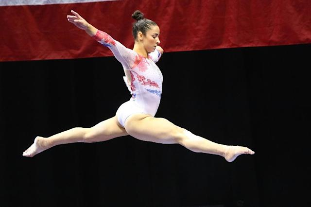 Aly Raisman, pictured in 2016, said she was abused by Larry Nassar at various locations starting in 2010 including at the US national team training center in Texas (AFP Photo/Dilip Vishwanat)