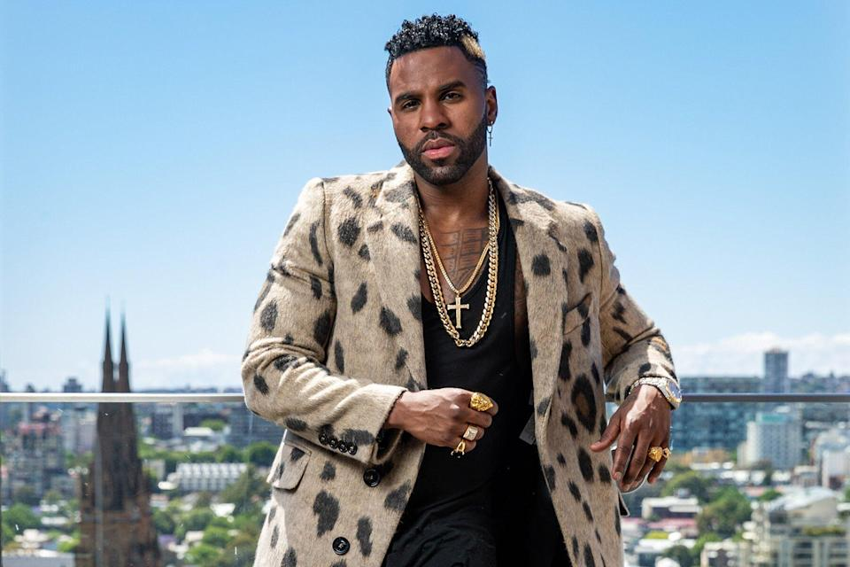 Singer Jason Derulo poses during a photo shoot in Sydney, New South Wales.