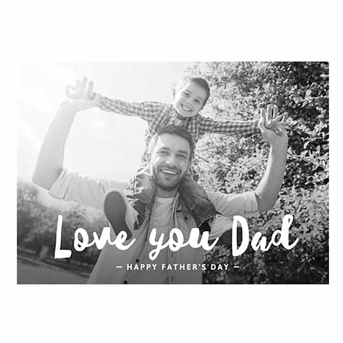"""<p>Customize this Father's Day card with a photo of Dad and his kids for something he'll treasure forever. </p><p><em><strong>Get the printable at <a href=""""https://www.greetingsisland.com/preview/cards/love-you-dad/94-12475"""" rel=""""nofollow noopener"""" target=""""_blank"""" data-ylk=""""slk:Greetings Island"""" class=""""link rapid-noclick-resp"""">Greetings Island</a>. </strong></em></p>"""