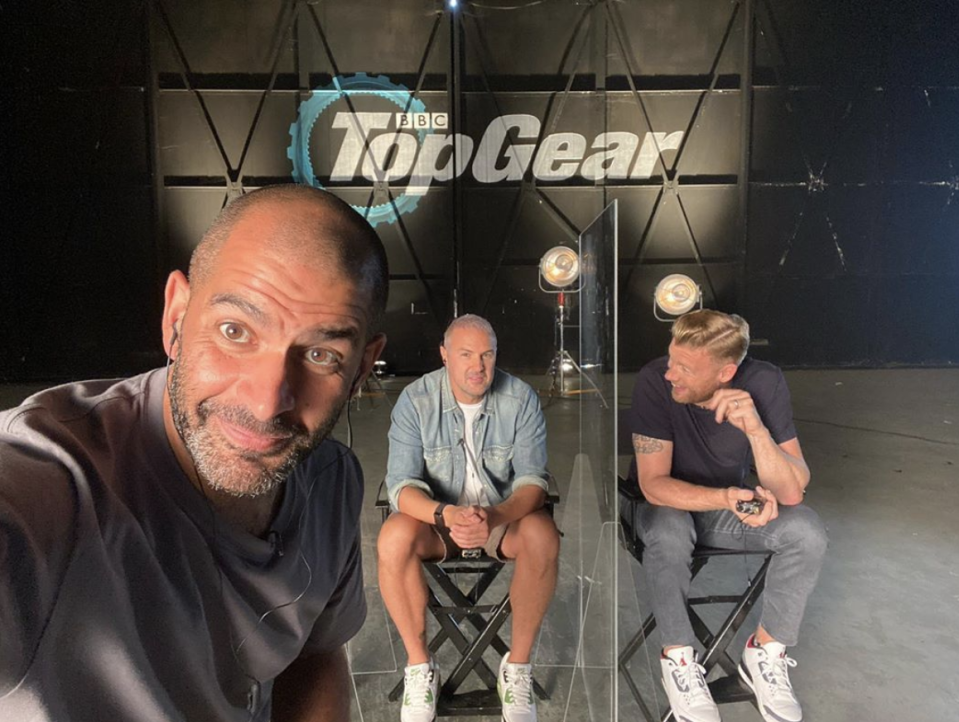 "Chris Harris, the host of ""Top Gear,"" snaps a selfie while promoting the show. (Photo: Instagram)"