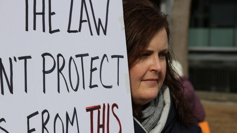 Upset, angry and confused: Protesters call for inquiry into cabbie's acquittal