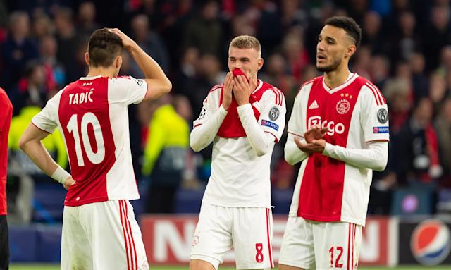 Ajax players are left disbelieving after Lucas Moura breaks their hearts