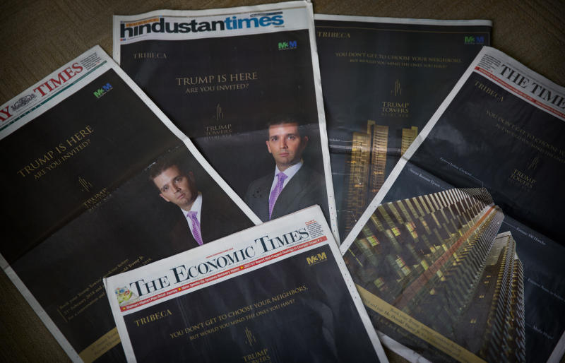 Luxury property ad blitz heralds Trump son's visit to India