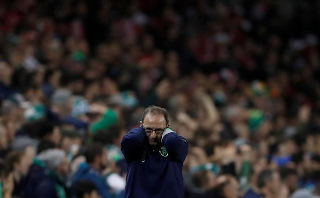 Soccer Football - 2018 World Cup Qualifications - Europe - Republic of Ireland vs Denmark - Aviva Stadium, Dublin, Republic of Ireland - November 14, 2017 Republic of Ireland manager Martin O'Neill Action Images via Reuters/Lee Smith TPX IMAGES OF THE DAY