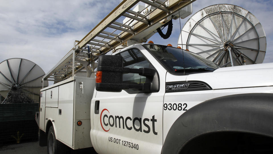 <p> In this Thursday, April 25, 2013, photo, a Comcast truck is parked in Berlin, Vt. Comcast Corp. reports quarterly financial results before the market opens on Wednesday, May 1, 2013. (AP Photo/Toby Talbot)</p>