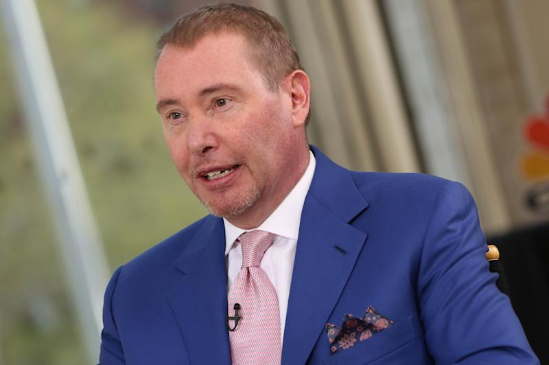 HALFTIME REPORT -- Pictured: Jeffrey Gundlach, DoubleLine Capital CEO and CIO, at the 20th Annual Sohn Investment Conference in New York City on May 4, 2015-- (Photo by: Adam Jeffery/CNBC/NBCU Photo Bank via Getty Images)