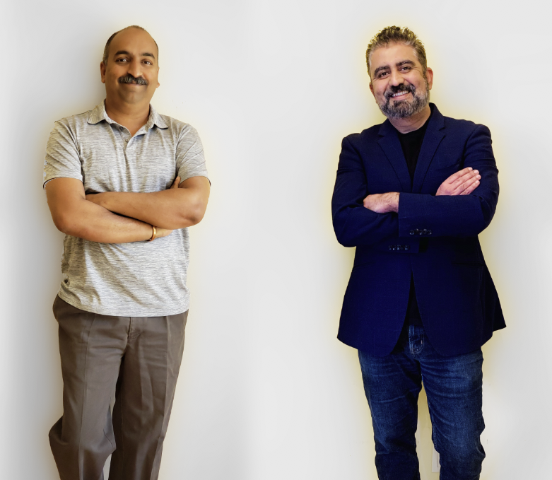 Durga Gokina, co-founder, vice president and chief architect and Chetan Venkatesh, co-founder and chief executive of Macrometa, an edge computing startup