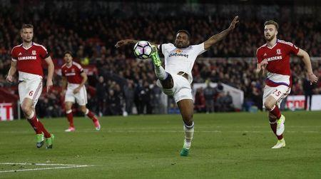 Britain Soccer Football - Middlesbrough v Sunderland - Premier League - The Riverside Stadium - 26/4/17 Sunderland's Jermain Defoe in action Action Images via Reuters / Lee Smith Livepic