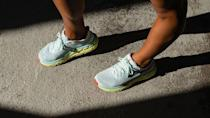 """<p>Hoka One One</p><p><a href=""""https://go.redirectingat.com?id=74968X1596630&url=https%3A%2F%2Fwww.hokaoneone.com%2Fgiftcards%2Forder%2F&sref=https%3A%2F%2Fwww.delish.com%2Ffood-news%2Fg35056237%2Fshipping-delays-best-gift-cards%2F"""" rel=""""nofollow noopener"""" target=""""_blank"""" data-ylk=""""slk:Shop Now"""" class=""""link rapid-noclick-resp"""">Shop Now</a></p><p><strong>From $20</strong></p><p>Chances are, the avid runner in your life is very particular about the sneaker they wear. If you want to treat them to a new pair — but don't want to step on any toes — a Hoka One One gift cards is a win-win.</p>"""