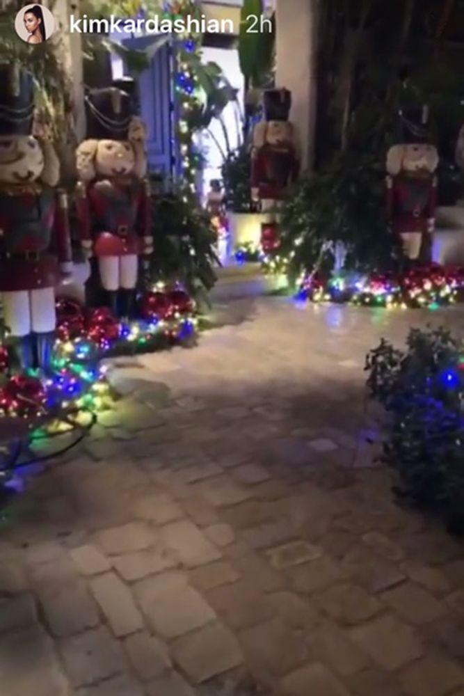 Kris Jenner\'s Christmas Polar Bear Is Back as She Decorates Home In ...