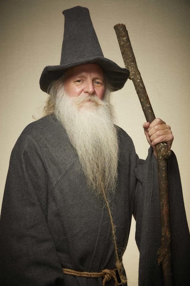 This Gandalf inspired look is sure to be a hit among Lord of the Rings fans. [Photo: Caters]