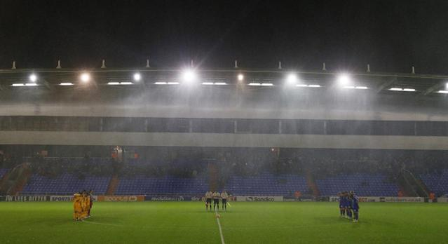 "Football - Oldham Athletic v Mansfield Town - FA Cup First Round Replay - SportsDirect.com Park - 17/11/15 Mansfield Town and Oldham Athletic players during a minute's silence in memory of the Paris attacks before the match Action Images via Reuters / Jason Cairnduff Livepic EDITORIAL USE ONLY. No use with unauthorized audio, video, data, fixture lists, club/league logos or ""live"" services. Online in-match use limited to 45 images, no video emulation. No use in betting, games or single club/league/player publications. Please contact your account representative for further details."