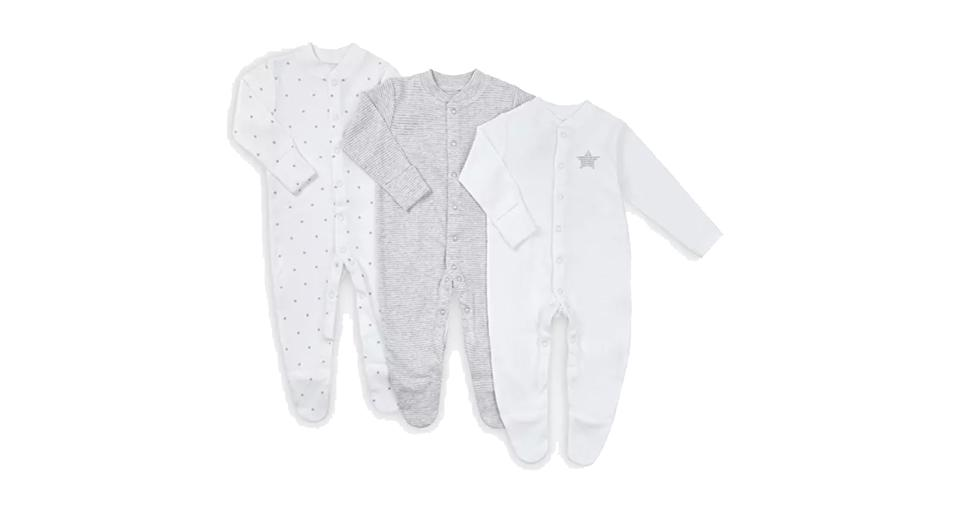 Baby Stars Long Sleeve GOTS Organic Cotton Sleepsuit