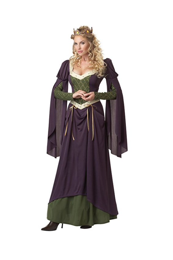 """<p><strong>California Costumes</strong></p><p>amazon.com</p><p><strong>$35.90</strong></p><p><a href=""""https://www.amazon.com/dp/B007O3RYO6?tag=syn-yahoo-20&ascsubtag=%5Bartid%7C10050.g.22985658%5Bsrc%7Cyahoo-us"""" rel=""""nofollow noopener"""" target=""""_blank"""" data-ylk=""""slk:Shop Now"""" class=""""link rapid-noclick-resp"""">Shop Now</a></p><p>Don't be a lady waiting to get her hands on this costume—once you put it on, you'll feel just like <a href=""""https://www.countryliving.com/life/kids-pets/g22119101/diy-princess-costumes/"""" rel=""""nofollow noopener"""" target=""""_blank"""" data-ylk=""""slk:royalty"""" class=""""link rapid-noclick-resp"""">royalty</a>.</p>"""