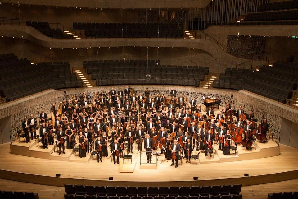 The World Doctors Orchestra performs in Hamburg in 2018 (Christoph Mueller/PA).