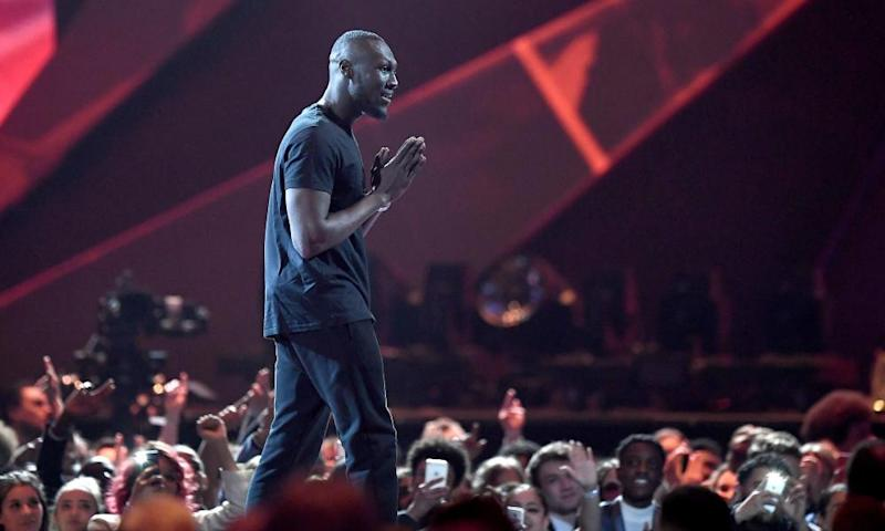 Stormzy at the 2018 Brit awards.
